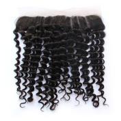 Brazilian Virgin Human Hair Free Part Ear To Ear 33cm x 10cm Deep Wave Lace Frontal Closure Natural Colour Hair Closure With Baby Hair