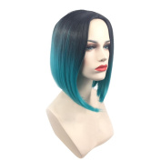 Yalasga Stylish Bob Hair Wigs Gradient Colour Short Wigs For women Girls