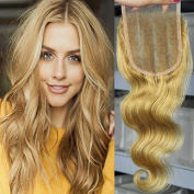 ORANGE STAR Top 7A Brazilian Remy Human Hair Lace Closure 27# Honey Blonde Body Wave Lace Topper Hairpieces 10cm x 10cm Swiss Lace Band Hand Tied Natural Black 1B