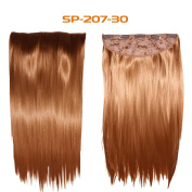46cm - 60cm Straight 160G Clip Synthetic Hair Extensions Long Hair Double Weft Unprocessed Clips on