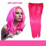 2-5 . , 1 Full Piece (5-Clips) 18-60cm Straight Head Clip in on Hair Extensions Hairpiece 10 Colours