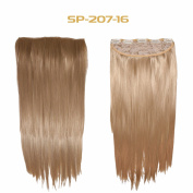 Premium Synthetic Hair Extensions 18, 20, 60cm Clip in Hair Extensions, Silky Long Hair Pieces for Women, 5 Clips Per Set