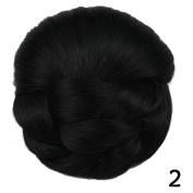 Deifor Synthetic Hair Braid Bun Extension Donut Chignon Hairpiece