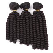 8-25cm 3PCS/Set Synthetic Crochet Braid High Temperature Fibre Curly Crochet Hair Extension Twist Braid Hair for Black Women