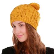 Lanhui_Lovely Women Warm Weave Crochet Winter Wool Knit Ski Beanie Skull Caps Hat