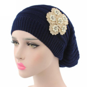 Lanhui_Elegant Women Ladies Knitting Cancer Hat Beanie Turban Head Wrap Cap Pile Cap
