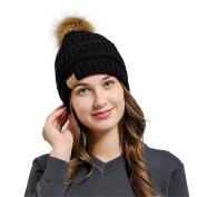 Lanhui_Lovely Women Baggy Warm Crochet Winter Wool Knit Ski Beanie Skull Slouchy Caps Hat