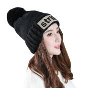 Lanhui_Elwgant Womens Lady Fashion Plus Velvet Cap Crochet Winter Warm Cap