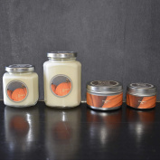 ANGELOHOME Baxter Manor Pumpkin Pie Scented Candles Silver