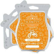 Scentsy, Oodles of Orange, Wickless Candle Tart Warmer Wax 90ml Bar, 3-pack