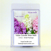 2 Hyacinth Vase Candle Melts | 80ml Premium Highly Scented Soy Paraffin Wax Tarts | 50 Hours