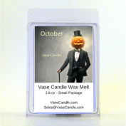 2 October Vase Candle Melts | 80ml Premium Highly Scented Soy Paraffin Wax Tarts | 50 Hours