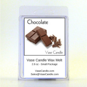 2 Chocolate Vase Candle Melts | 80ml Premium Highly Scented Soy Paraffin Wax Tarts | 50 Hours