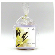 2 Vanilla Vase Candle Refills | 100 Hour Burn Time | Premium Soy Paraffin Wax Blend | Highly Scented | Self-Trimming Wick