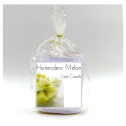 2 Honeydew Melon Vase Candle Refills | 100 Hour Burn Time | Premium Soy Paraffin Wax Blend | Highly Scented | Self-Trimming Wick