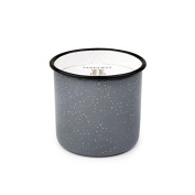 Paddywax Alpine Soy Wax Candle in Grey Enamelware Pot, Leather and Oak, 280ml