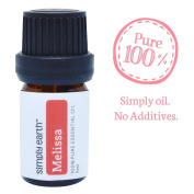 Melissa Essential Oil by Simply Earth - 5ml, 100% Pure Therapeutic Grade