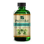 Aromatherapy Prevenage Peppermint Essential Oil - Premium Quality - Professional and Therapeutic Grade - 100% Pure and Natural - 120ml