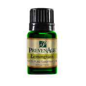 Aromatherapy Prevenage Lemongrass Essential Oil - Premium Quality - Professional and Therapeutic Grade - 100% Pure and Natural - 10 mL