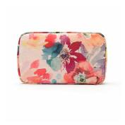 Teeya Cosmetic Makeup Bag, Handy Purse Makeup Pouch Clutch Organiser Makeup Beauty Case Travel Storage Bag for Women Pink