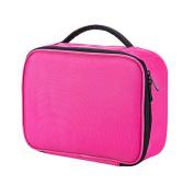 Dreubea Waterproof Makeup Cosmetic Bag Portable Train Case Travel Toiletry Organiser Kit Pink