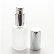 Perfume Studio Frosted Glass 30ml/1oz Refillable Fragrance Bottle with Silver Sprayer (3-Pack). Top Quality Glass; Ideal for Perfumes, Colognes, Essential Oils, Beauty Sprays. Bonus Perfume Oil Sample