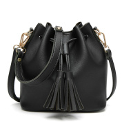 Mootime Tassel Totes Handbag Women's casual Shoulder Cross-body Bag Black