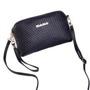 Mootime Women's PU Leather Cross Body Shoulder Bag Black
