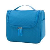 Mootime Hanging Toiletry Bag Travel Toiletry Kit for Men Women Toiletries cosmetics Shower Bag Blue