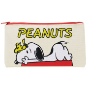 Peanuts Snoopy Slim Pen Pouch Flat M size / house
