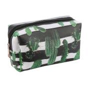 Cactus Print Vinyl Makeup Cosmetic Accessory Bag