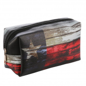 Lonestar Texas Flag Vinyl Makeup Cosmetic Accessory Bag