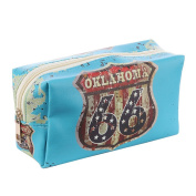 Route 66 Oklahoma Vinyl Makeup Cosmetic Accessory Bag