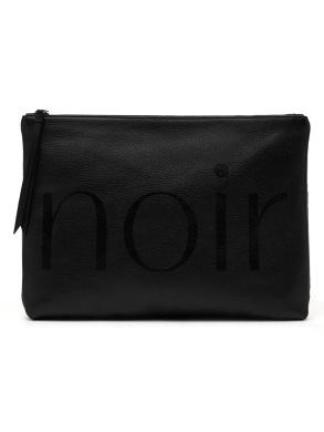 "Banana Republic Black ""Noir"" Leather Clutch Bag"