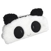 Cute Furry Panda Plush Cosmetic Bag Pencil Pen Paintbrush Pouch Makeup Brush Case Travel Clutch Handbag Purse Kawaii Fashion