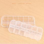 Alonea 12 Grids Jewellery Tool Box Beads Pills Organiser Nail Art Tip Storage Box Case