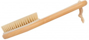 Attitu Wet or Dry-Bath Brush Exfoliating Body Massager Brush with Contoured Wooden Handle