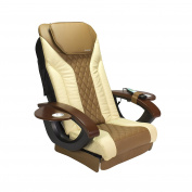 Shiatsulogic Pedicure Chair Cushion COVER NEW 2 Tone Cappuccino & Sand Nail Salon Pedicure Furniture