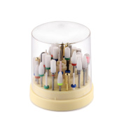 MAKARTT Nail Drill Bits Holder Large Stand Displayer Organiser Container 48 Holes Acrylic Manicure Pedicure