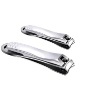 ShenTengDa Nail Clippers Set Fingernail and Toenail Clipper Cutter,2PCS Professional Sharpest Stainless Steel Fingernail Clippers,Heavy Duty Big Nail Clippers Set for Men & Women