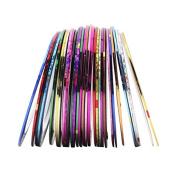 10Pcs Popular Nail Decal Rolls Striping Tape Line Nail Sticker Nail Art Decoration DIY Nail Accessories
