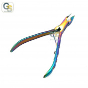 G.S TITANIUM COATED CUTICLE NIPPER, MULTI-colour, 10cm BEST QUALITY