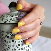 24pcs Lemon Yellow Candy Women False Nails Sparkly Nail Art Full Wrap Tips Hand Nails Nail Salon Product 124