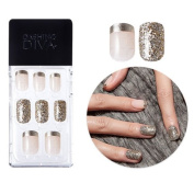 2016 F/W New Dashing Diva Full Cover Gel Nail Tips, Easy to attach without Glue (Square Type, Disposable) MPGS42