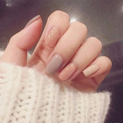 24 Pieces Nude Colours Fake Nails