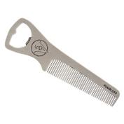 Rumble59 Stainless Steel Hair Comb, Bottle Opener