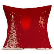 Christmas Pillow Case,Tsmile cushion covers 18 x 18 Sofa Bed Home Decor Cushion Cover