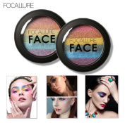 Morecome Rainbow Highlight Eyeshadow Palette Blush Face Shimmer Colour
