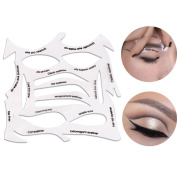 Wisdompark Professional Eyeliner Stencil 3 In 1 Smokey Eye shadow/Cat eyeliner/Eyebrow Make-up , To Meet Your Needs All Kinds of Eye Makeup ,Reusable PE Material Soft Fit All the Skin