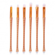 Cinidy 6pcs Makeup Eyeliner Brushes Set Cosmetic Eyeshadow Blending Foundation Concealer Blush Contour Brushes
